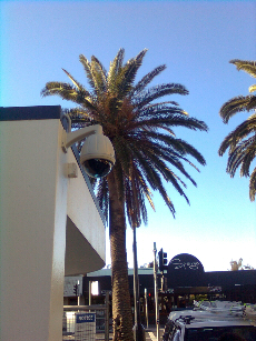 image of a building installed with a security camera